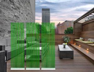 Grüner Sichtschutz für die Terrasse