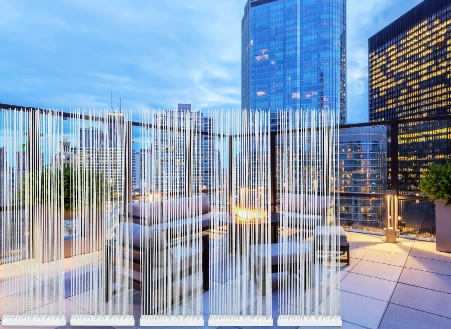 moderner Sichtschutz für die Terrasse