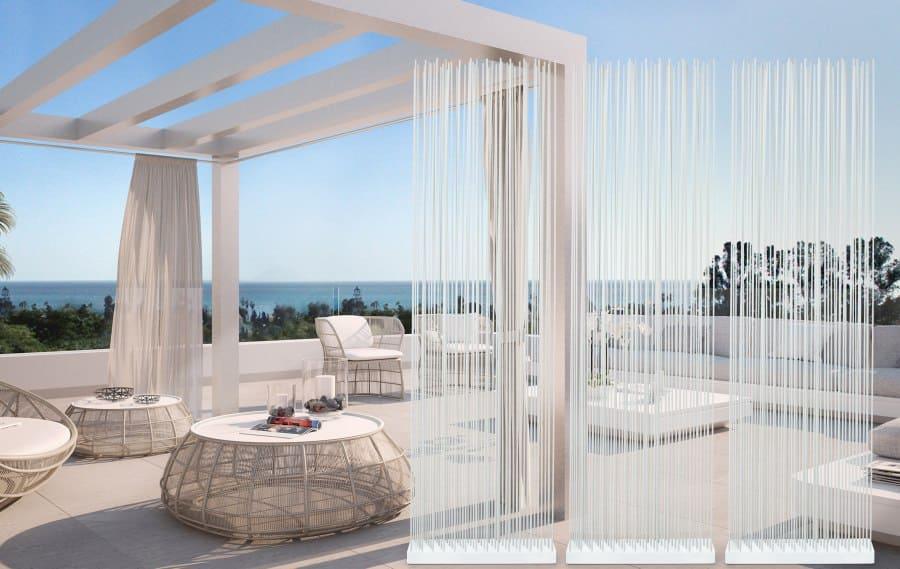 Loungemöbel für die Terrasse mit Sichtschutz von Skydesign