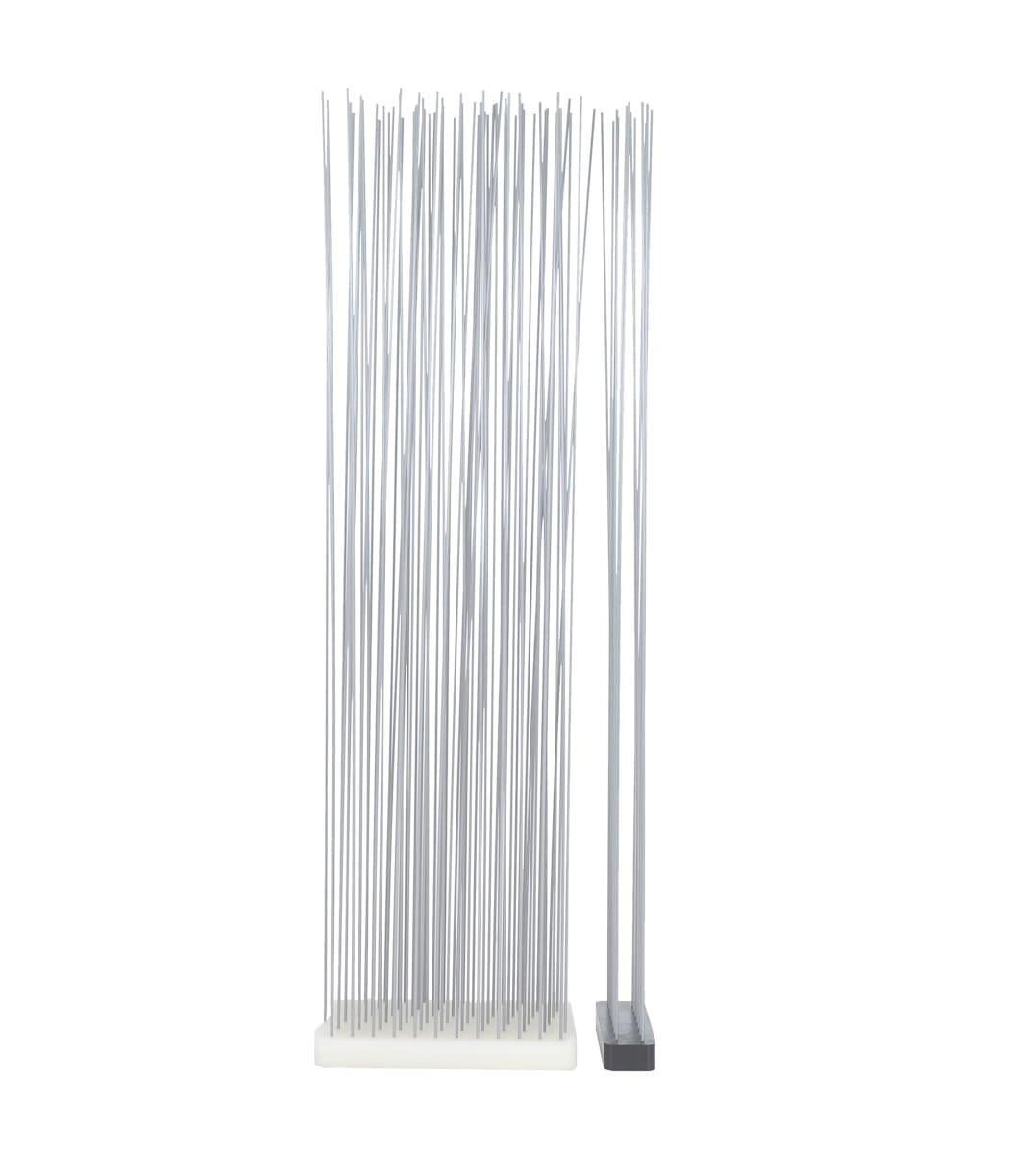 Sichtschutz in Weiß mit Stäbe Sticks