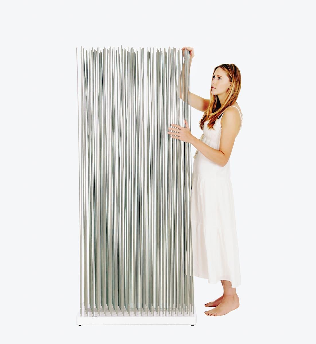 Elegante Sichtschutz Raumteiler mobil