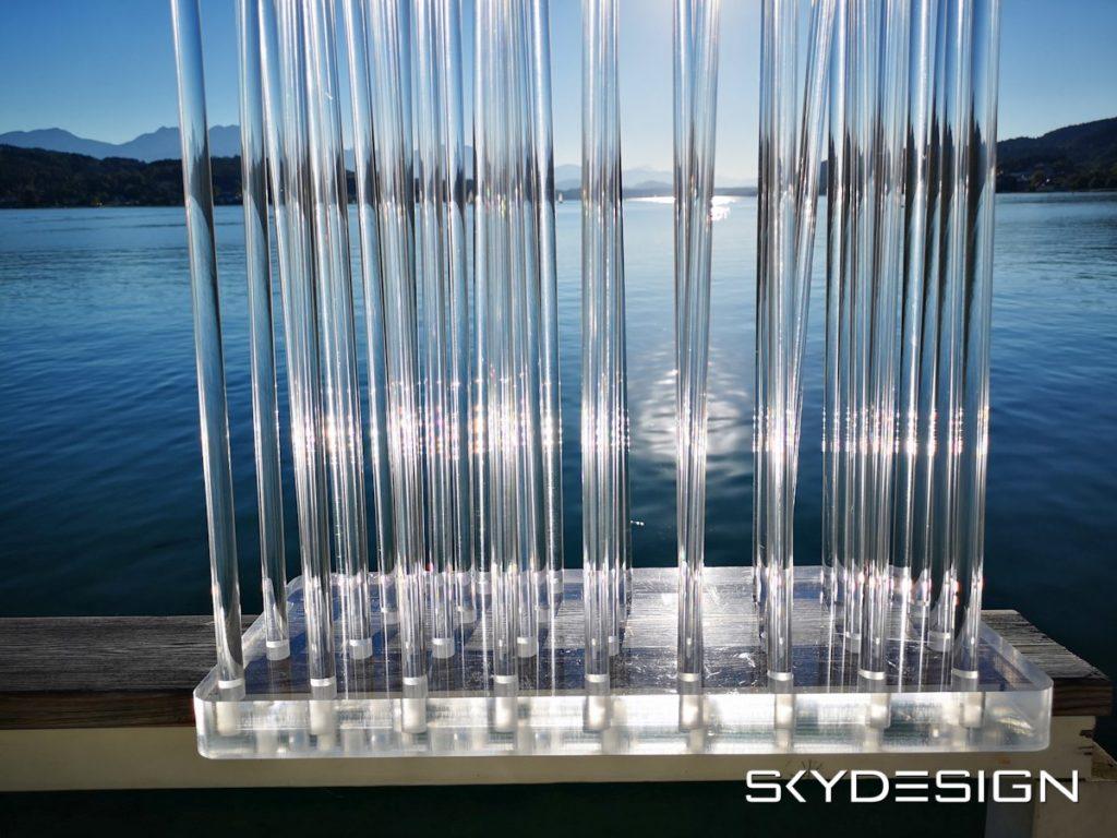 Acrylglas Trennwand - Plexiglas Sichtschutz - Luxus Raumteiler