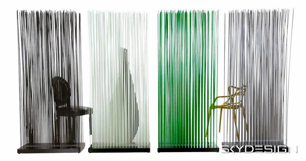 Sichtschutz bunt: Schwarz, Weiß, Grün, Grau