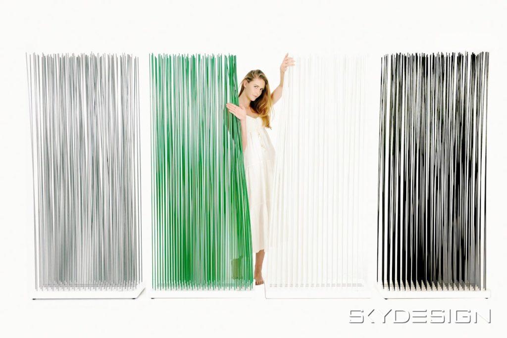 Raumteiler grün, weiß, schwarz, grau - Sichtschutz in Sonderfarben kaufen