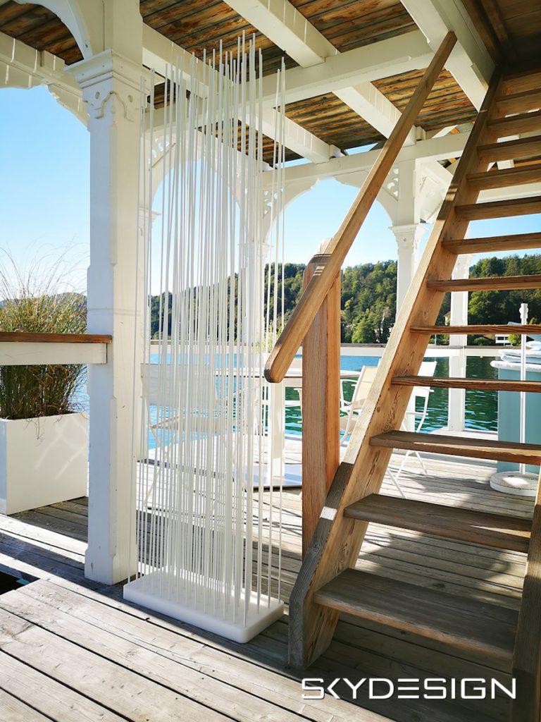 Sichtschutz Terrasse, Sichtschutz Bambus Balkon, moderner Raumteiler, Möbel Terrasse