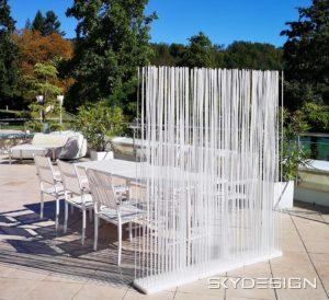 Paravent Outdoor Terrasse in Weiß