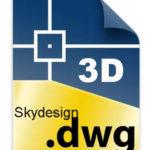 3D DWG Dateien für Raumteiler mit Sticks Skydesign Sichtschutz