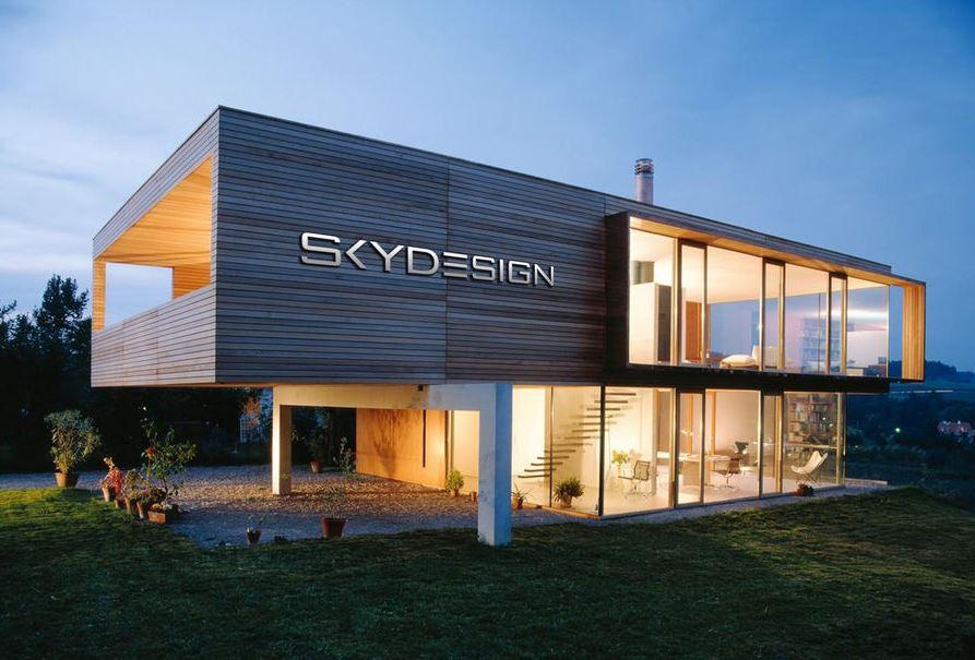 Skydesign Haus mit Raumteiler